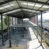 Modèle et installation préfabriqués structuraux en acier légers de construction d'entrepôt