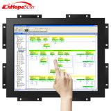 Caixa do metal do frame aberto monitor capacitivo da tela de toque de 19 polegadas com montagem da parede