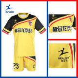 Uniforme du football de sublimation personnalisé par 100% de Healong (uniforme du football)