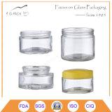 Vasi d'inscatolamento di vetro di figura rotonda con le protezioni di plastica