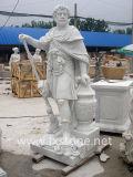 Statue romaine par sculpture de marbre blanc
