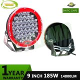 Lampada automatica calda LED di 185W 9inch IP68 che determina indicatore luminoso di funzionamento per la jeep