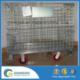 Шкафы хранения паллета провода сетки стальные с рицинусами