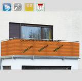 Загородка экрана балкона PVC высокого качества (Holzdekor)