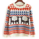Qualitäts-kundenspezifische Polyester-Dame-Frauen-Strickjacke für Weihnachten