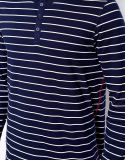 Di maglietta a strisce del collo di Henley del manicotto degli uomini di Whoesale 3/4