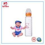 hohe Glas-Baby-Flaschen des Borosilicat-8oz mit weichem Nippel