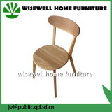 革パッド(W-C-565)が付いているコースターの現代的な木製の食事の椅子