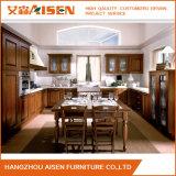Precio asequible, muebles de madera de madera sólida mueble de cocina con isla