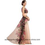 Платья вечера длиной конструируют платье выпускного вечера лета печати цветка шифоновое