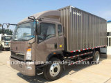 HOWO 4*2ヴァンBox Cargoのトラックの貨物自動車のトラック160HP