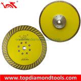 Pressione a quente Diamante Turbo sinterizado a lâmina da serra com dentes de protecção lateral