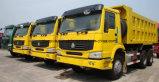 Sinotruk HOWO 6X4 25 T에서 30 T 덤프 트럭 무거운 수용량 팁 주는 사람 트럭