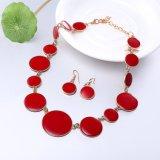 De westelijke Hete Oorring van de Halsband van de Olie van de Reeksen van de Juwelen van de Verkoop Eenvoudige Rode Druppel Verbonden