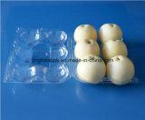 Bandeja de empaquetado del envase de la fruta del animal doméstico para Apple y los melocotones 6PCS