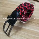 Rouge et Noir sangle de ceinture tressée soulevé de grain