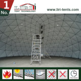 Tente de serre chaude de dôme géodésique avec le dessus clair