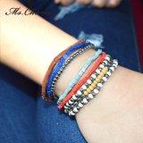 Multicolored Plastic Vierkante Houten Metaal parelt Geplaatste Armbanden
