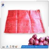 Durável 50*80cm malha PP vermelho sacos de Cebola
