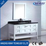 Antiker weißer klassischer festes Holz-Badezimmer-Eitelkeits-Großhandelsschrank