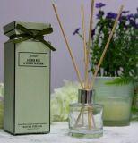Venda a quente 50 ml Difusor Reed perfumada perfumados com bastões de vime e a fita na caixa de cores para decoração