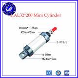 Цилиндр сжатого воздуха цилиндра аэродинамической подъёмной сила цилиндра воздуха двойной серии Mal действия штанги малый миниый пневматический круглый