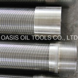 Pantallas de alambre bien de la cuña del acero inoxidable de la perforación 316L con la cuerda de rosca