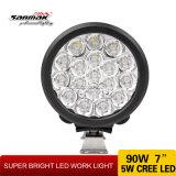 90W Jeep Offroad Waterproof 7 Inch LED Work Lamp