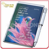 Hot Sale Pocket Anodized Aluminium Leather Notebook with Ball Pen