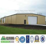 La costruzione prefabbricata del magazzino/ha prefabbricato il magazzino della struttura d'acciaio
