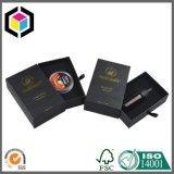 Коробка подарка ювелирных изделий картона бумаги текстуры логоса золота