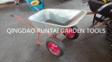 La polvere ha ricoperto la carriola di uso del giardino della costruzione (Wb6404W)