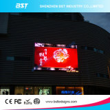 China-Fabrik-Zubehör P10mm im Freienled Bildschirm Boad mit Kurven-Entwurf bekanntmachend
