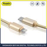 lampo di 1m che incarica il cavo del telefono mobile di dati del USB del Tipo-c uscita