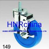 Blauer Belüftung-Rad-Schwenker mit Verschluss-Schraubverschluss- Fußrolle