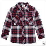 Plus tard en 2014 Coton garçons grille rayé Joker type chemise à manches longues pour les enfants de l'habillement