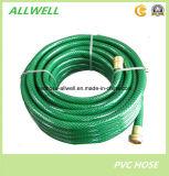 Шланг сада воды волокна PVC пластичный зеленый гибкий усиленный Braided