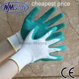 Vert Nmsafety latex enduits gant de travail du travail