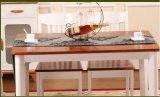 Móveis de madeira sólida mediterrânea Mesa de jantar e cadeiras