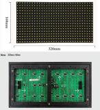 Comitato esterno 320*160 millimetro di colore giallo LED del TUFFO P10 singolo per lo spostamento dello schermo di visualizzazione del LED