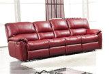 Wohnzimmer-Sofa mit dem modernen echtes Leder-Sofa eingestellt (396)