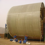El tanque grande de FRP manufacturado en sitio
