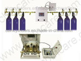 Sistemas automáticos médicos do distribuidor do gás de O2/N2/CO2/N2o