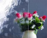 4mm 공간은 꽃 장식무늬가 든 유리 제품