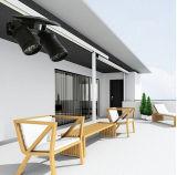 Lampe solaire d'admission du double projecteur extérieur solaire DEL du matériel DEL