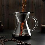 POT di vetro di vendita caldo del caffè del creatore di caffè del gocciolamento manuale squisito con il filtro