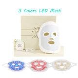 Rejuvenecimiento LED Facialmask de la máscara, antienvejecedor y de Pigmenation del retiro del punto del acné del cuidado de la cara del corrector 3 del color del fotón LED de la piel