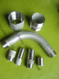 """2-1/2 """" o aço inoxidável 316 DIN2999 fecha o bocal da tubulação"""