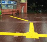 Povos cegos TPU e assoalho de advertência do PVC que pavimenta a telha tátil