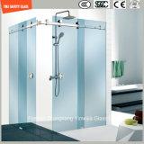 Châssis en acier inoxydable réglable 6-12 coulissante en verre trempé Simple salle de douche, douche, cabine de douche, salle de bains